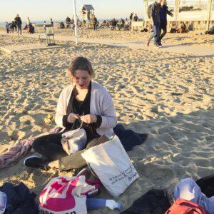 Breien op het strand in februari: heerlijk!