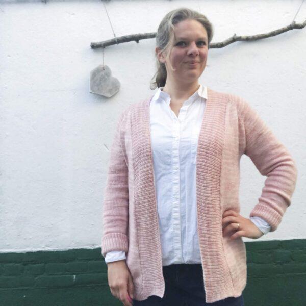 een vest breien madewell cardigan