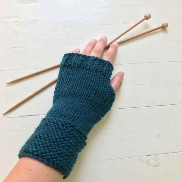breipakket vingerloze handschoen breien voor beginner