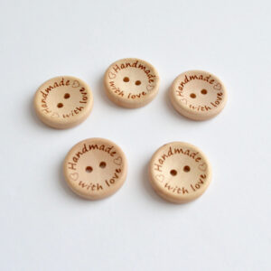 handmade with love houten knopen 20 mm