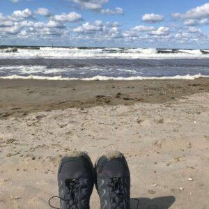 wandelen op het strand van scheveningen me time mama tijd voor jezelf
