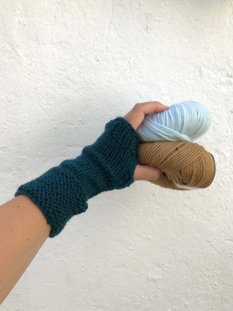 breipakketje vingerlozen handschoen merino wol beginners breien